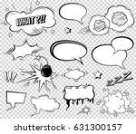 comic speech bubbles set ... | Shutterstock .eps vector #631300157