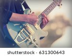 close up of man playing a rock... | Shutterstock . vector #631300643