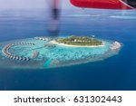 aerial view maldives tropical... | Shutterstock . vector #631302443