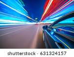 view from side of car moving in ... | Shutterstock . vector #631324157