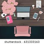 online marketing blogger...   Shutterstock .eps vector #631333163
