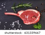 fresh lamb cutlet  with ... | Shutterstock . vector #631339667