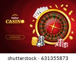 online casino background with... | Shutterstock .eps vector #631355873
