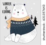 bear illustration vector for... | Shutterstock .eps vector #631357643