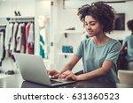 beautiful afro american sales...   Shutterstock . vector #631360523