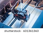 objects printed by 3d printer.... | Shutterstock . vector #631361363