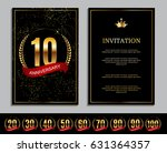 luxury template  logo set of... | Shutterstock .eps vector #631364357