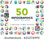 vector circle infographics set. ... | Shutterstock .eps vector #631376993