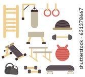 fitness sport gym exercise... | Shutterstock .eps vector #631378667