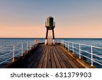 Whitby Pier In The Evening ...