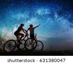 pair of cyclists with mountain... | Shutterstock . vector #631380047