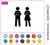 man and woman with crossed arms ... | Shutterstock .eps vector #631389227