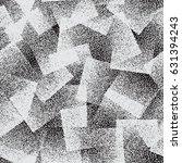 vector abstract stippled weird... | Shutterstock .eps vector #631394243