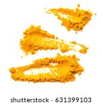 turmeric powder isolated on... | Shutterstock . vector #631399103