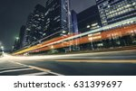 the traffic light trails of city | Shutterstock . vector #631399697