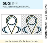 pixel perfect duo line map... | Shutterstock .eps vector #631400393