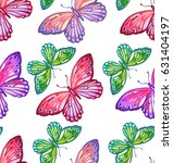 seamless pattern of colorful... | Shutterstock .eps vector #631404197