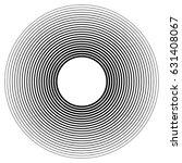 circular  radiating abstract... | Shutterstock .eps vector #631408067