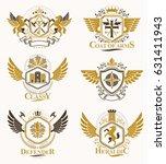 vintage decorative heraldic... | Shutterstock .eps vector #631411943