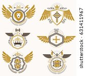 vintage heraldry design... | Shutterstock .eps vector #631411967