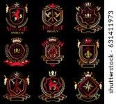 vector classy heraldic coat of...   Shutterstock .eps vector #631411973