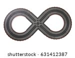 racing track toy isolated on... | Shutterstock . vector #631412387