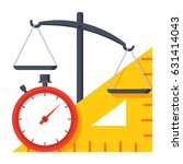 metrology concept with scales ... | Shutterstock .eps vector #631414043