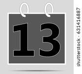 vector image template calendar. ... | Shutterstock .eps vector #631416887