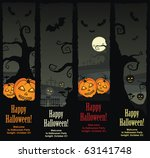 halloween banners  vector eps8 | Shutterstock .eps vector #63141748