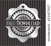 free download silver shiny badge