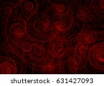 red spiral on black background... | Shutterstock . vector #631427093