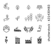eco icons | Shutterstock .eps vector #631430483