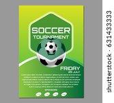 soccer tournament poster or... | Shutterstock .eps vector #631433333