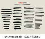 dry chalk texture brush  thin... | Shutterstock .eps vector #631446557