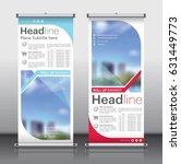 roll up banner design template... | Shutterstock .eps vector #631449773