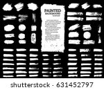 painted grunge stripes set.... | Shutterstock .eps vector #631452797