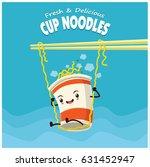 vintage cup noodles poster... | Shutterstock .eps vector #631452947