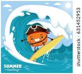 vintage fruit poster design...   Shutterstock .eps vector #631452953