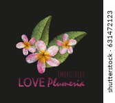 embroidery imitation floral... | Shutterstock .eps vector #631472123
