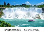 Small photo of Beautiful Niagara Falls on a clear sunny day. Niagara, Canada