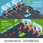 two horizontal gym isometric... | Shutterstock .eps vector #631486763