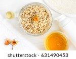 homemade nourishing oatmeal...   Shutterstock . vector #631490453