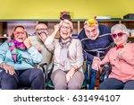 senior adults in a nursing home ... | Shutterstock . vector #631494107
