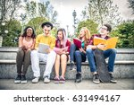 multi ethnic group of students... | Shutterstock . vector #631494167