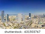 panoramic shot of tel aviv and... | Shutterstock . vector #631503767