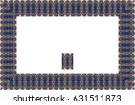border or frame of abstract... | Shutterstock . vector #631511873