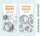 breakfast and brunches vintage... | Shutterstock .eps vector #631514387