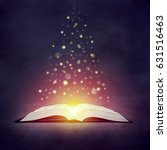 the concept of the magical book.... | Shutterstock . vector #631516463