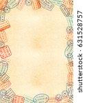 vertical a4 size yellow sheet... | Shutterstock . vector #631528757