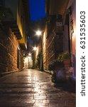 old city street  stone stairway ... | Shutterstock . vector #631535603